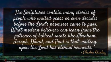 Photo of Charles Stanley quote : The Scriptures contain many …