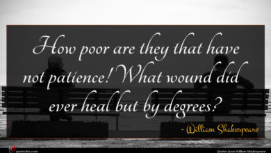 Photo of William Shakespeare quote : How poor are they …