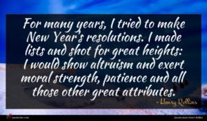 Henry Rollins quote : For many years I ...