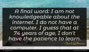David Wilkerson quote : A final word I ...