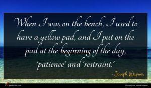 Joseph Wapner quote : When I was on ...