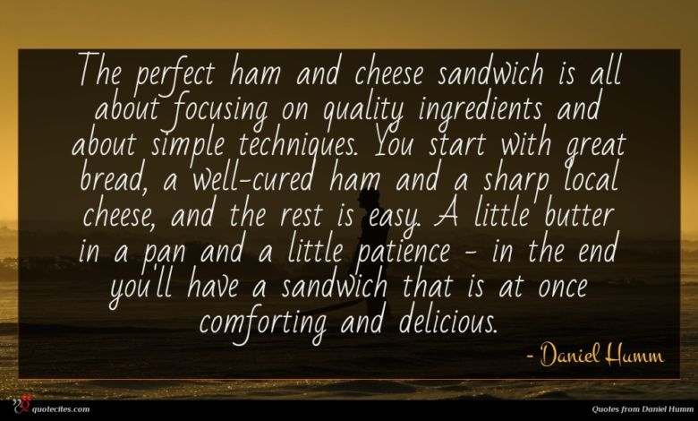 The perfect ham and cheese sandwich is all about focusing on quality ingredients and about simple techniques. You start with great bread, a well-cured ham and a sharp local cheese, and the rest is easy. A little butter in a pan and a little patience - in the end you'll have a sandwich that is at once comforting and delicious.