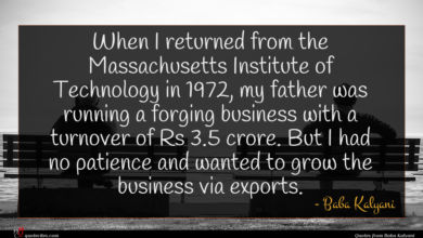 Photo of Baba Kalyani quote : When I returned from …