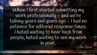 Photo of Cullen Bunn quote : When I first started …