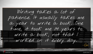 Avi quote : Writing takes a lot ...