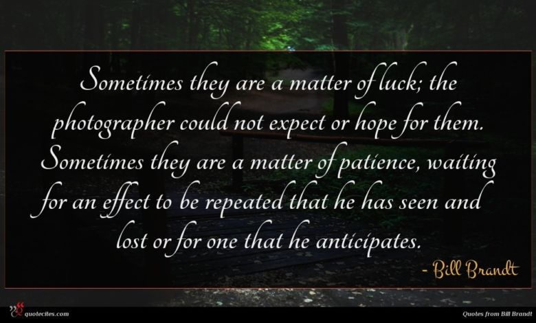 Sometimes they are a matter of luck; the photographer could not expect or hope for them. Sometimes they are a matter of patience, waiting for an effect to be repeated that he has seen and lost or for one that he anticipates.