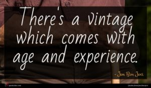 Jon Bon Jovi quote : There's a vintage which ...