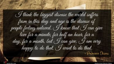 Photo of Princess Diana quote : I think the biggest …