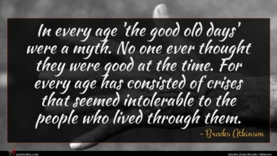 Photo of Brooks Atkinson quote : In every age 'the …
