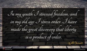 Will Durant quote : In my youth I ...