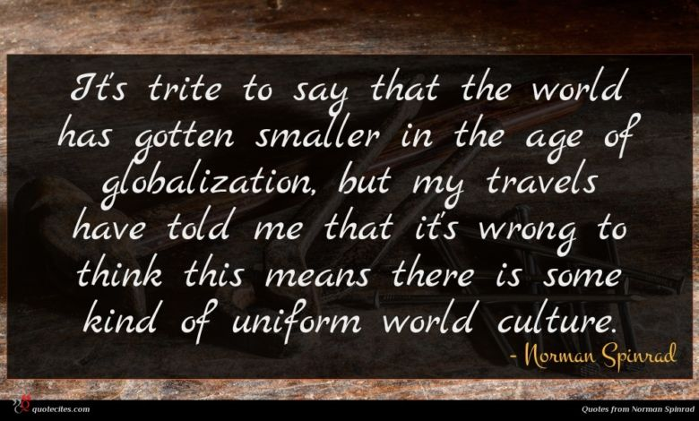 It's trite to say that the world has gotten smaller in the age of globalization, but my travels have told me that it's wrong to think this means there is some kind of uniform world culture.