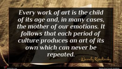Photo of Wassily Kandinsky quote : Every work of art …