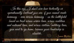 James Mattis quote : In this age I ...