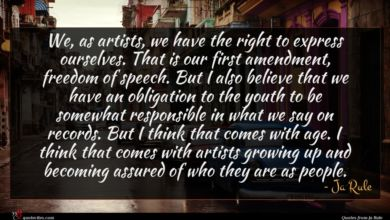 Photo of Ja Rule quote : We as artists we …