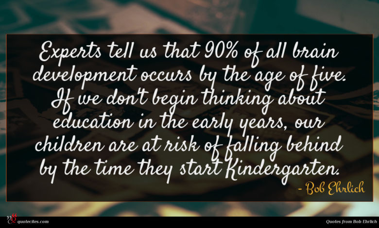 Experts tell us that 90% of all brain development occurs by the age of five. If we don't begin thinking about education in the early years, our children are at risk of falling behind by the time they start Kindergarten.