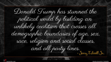 Photo of Jerry Falwell Jr. quote : Donald Trump has stunned …