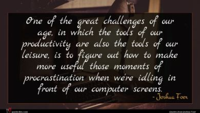 Photo of Joshua Foer quote : One of the great …