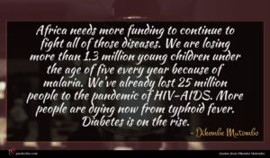 Dikembe Mutombo quote : Africa needs more funding ...