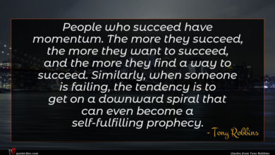 Photo of Tony Robbins quote : People who succeed have …
