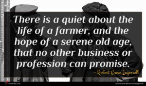Robert Green Ingersoll quote : There is a quiet ...