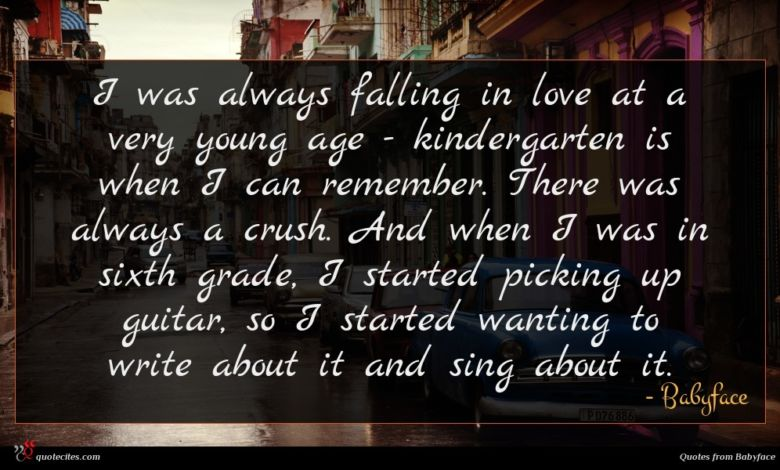 Photo of Babyface quote : I was always falling …