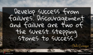 Dale Carnegie quote : Develop success from failures ...