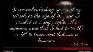 Photo of Sasha Banks quote : I remember looking up …