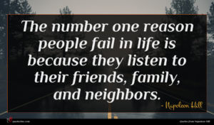 Napoleon Hill quote : The number one reason ...