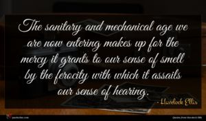 Havelock Ellis quote : The sanitary and mechanical ...