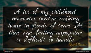 Rachel Stevens quote : A lot of my ...