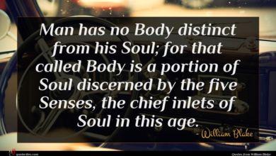Photo of William Blake quote : Man has no Body …