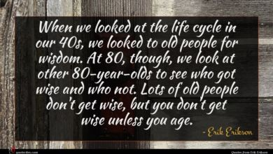 Photo of Erik Erikson quote : When we looked at …