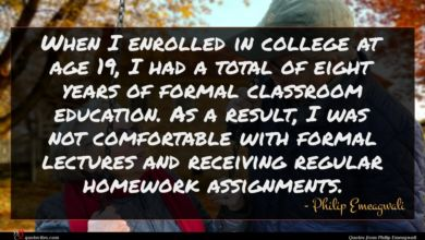 Photo of Philip Emeagwali quote : When I enrolled in …