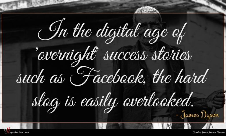 In the digital age of 'overnight' success stories such as Facebook, the hard slog is easily overlooked.