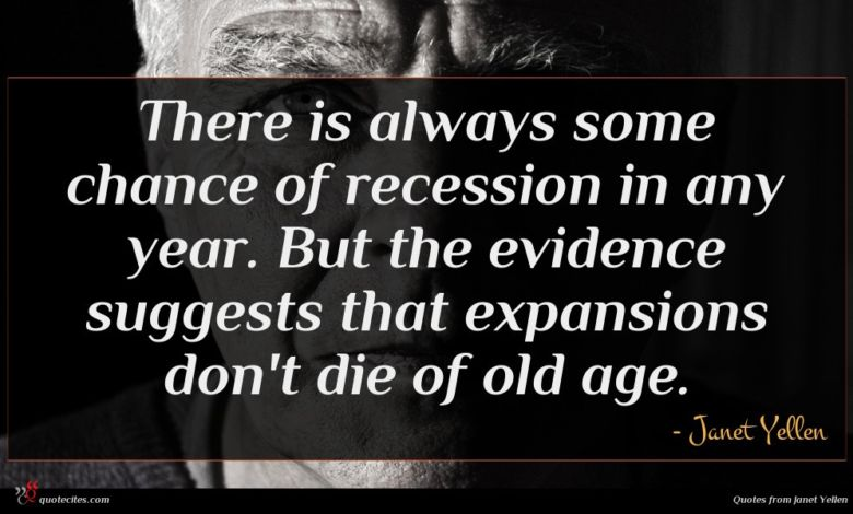 There is always some chance of recession in any year. But the evidence suggests that expansions don't die of old age.
