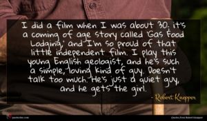 Robert Knepper quote : I did a film ...