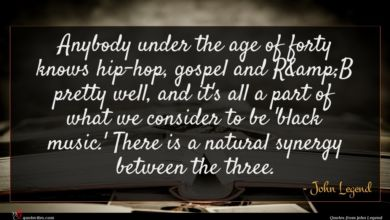 Photo of John Legend quote : Anybody under the age …