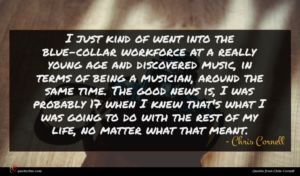 Chris Cornell quote : I just kind of ...