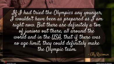 Photo of Aly Raisman quote : If I had tried …