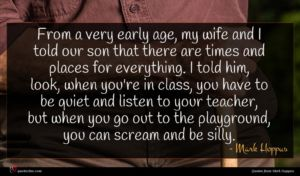 Mark Hoppus quote : From a very early ...