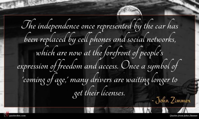 The independence once represented by the car has been replaced by cell phones and social networks, which are now at the forefront of people's expression of freedom and access. Once a symbol of 'coming of age,' many drivers are waiting longer to get their licenses.