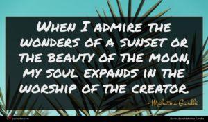 Mahatma Gandhi quote : When I admire the ...