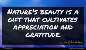 Louie Schwartzberg quote : Nature's beauty is a ...