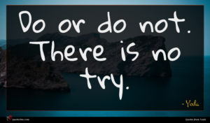 Yoda quote : Do or do not ...