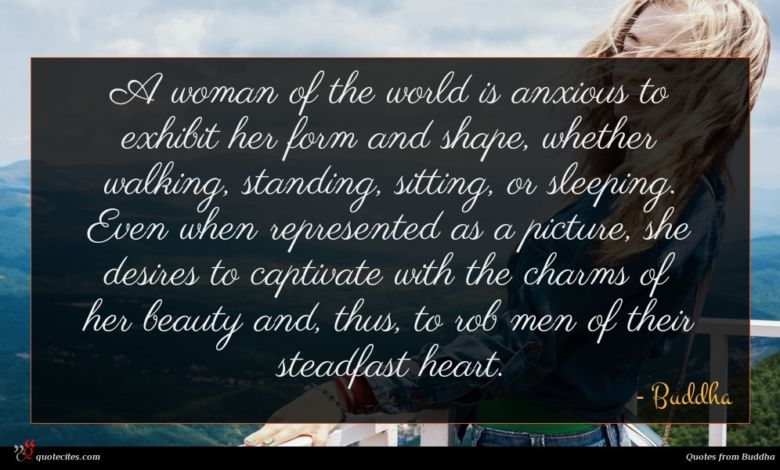 Photo of Buddha quote : A woman of the …