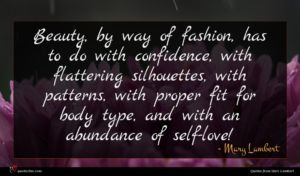 Mary Lambert quote : Beauty by way of ...