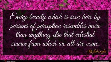 Photo of Michelangelo quote : Every beauty which is …