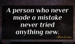 Albert Einstein quote : A person who never ...