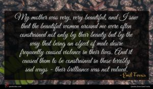 Emil Ferris quote : My mother was very ...