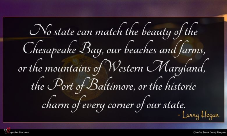 Photo of Larry Hogan quote : No state can match …